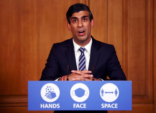 Chancellor of the Exchequer Rishi Sunak speaks during a virtual press conference. Picture: Henry Nicholls/Pool/AFP via Getty Images.