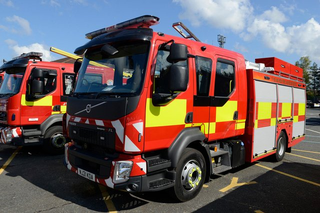 Fire Engine. Source: Tyne and Wear Fire and Rescue