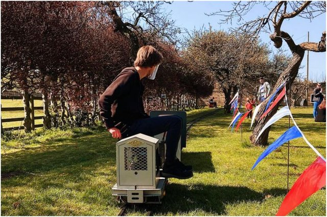 The business brings a portable miniature railway to events across the North East.