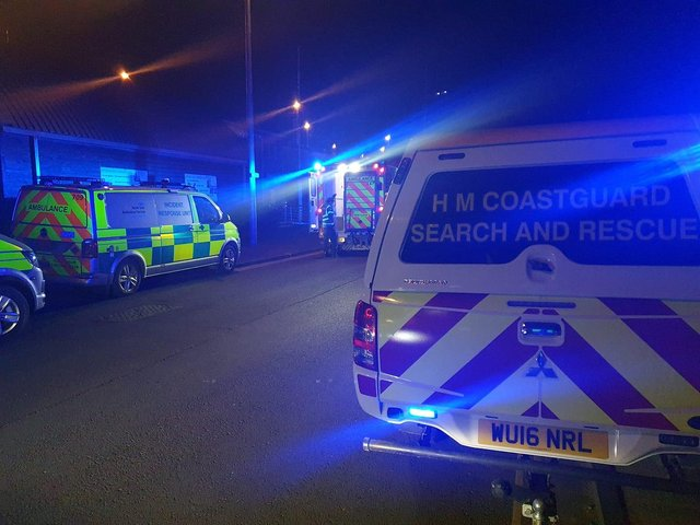Emergency services at the scene of the incident at Roker beach, Sunderland. Photo by Sunderland Coastguard Rescue Team.