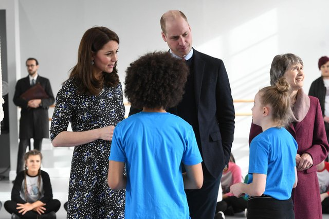 Duke and Duchess of Cambridge during a visit to the North East