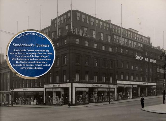 A blue plaque commemorating the role of Quakers, women and retailers in the anti-slavery movement is set to be unveiled in Sunderland