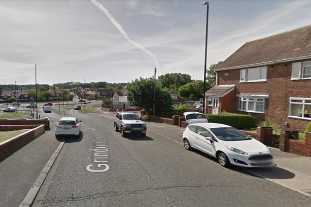 A motorcycle and a car collided in Grindon Lane in Sunderland./Photo: Google