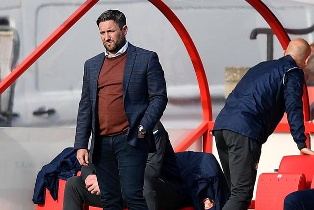 Sunderland head coach Lee Johnson.