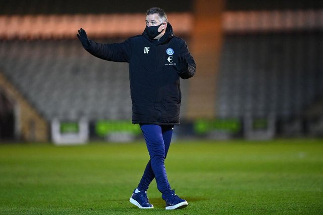 Darren Ferguson, manager of Peterborough United.