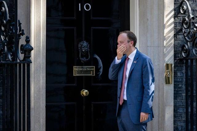Health Secretary Matt Hancock outside 10 Downing Street on June 9. Picture: Rob Pinney/Getty Images.