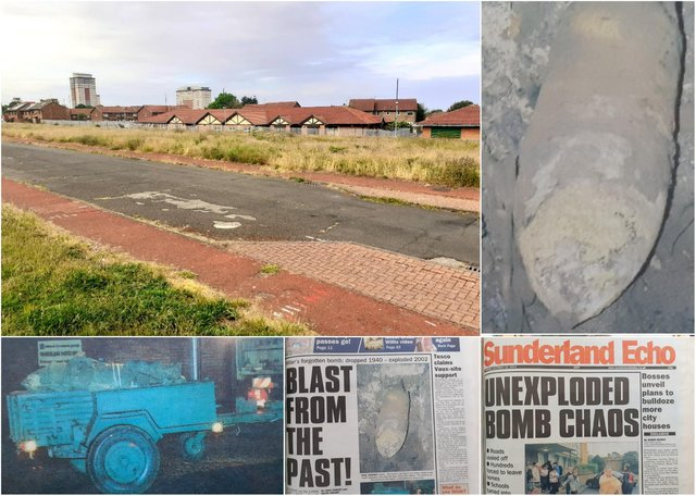 The 1,000 pound bomb was discovered during excavation work behind Deerness Park Medical Center on Suffolk Street in Hendon, and the Sunderland Echo blanket at the time.