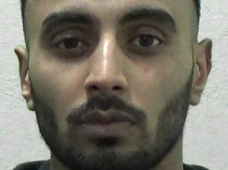 Amir Hussain's girlfriend was so scared of his violent behaviour that she hid in bushes outside her home for three hours one night in a bid to keep away from him.