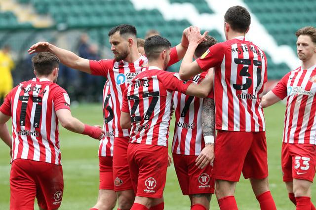 Sunderland celebrate Chris Maguire's crucial penalty strike
