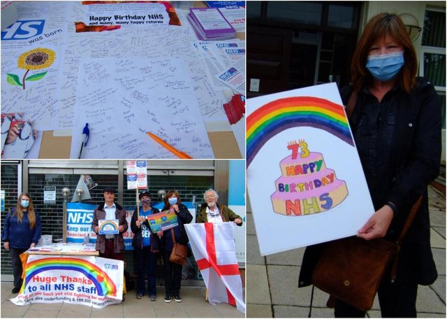 Sunderland residents have signed a birthday card praising NHS staff and marking the organisation's 73rd anniversary.