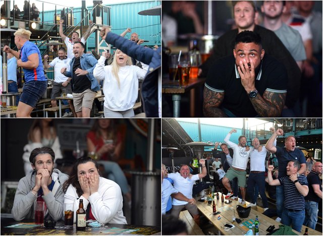 Fans watched the dramatic match at Stack in Seaburn.