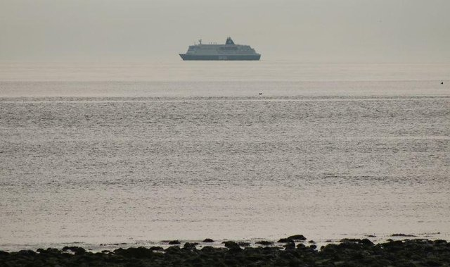 Ian Maggiore pictured a ferry which appeared to be hovering above the sea
