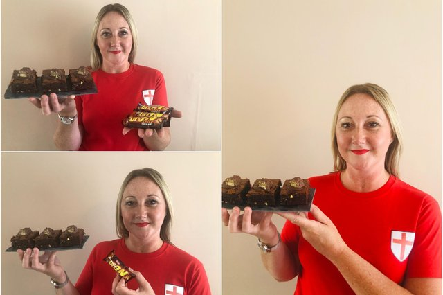 A chocolate treat for Euro finals day from Tarts & Traybakes.