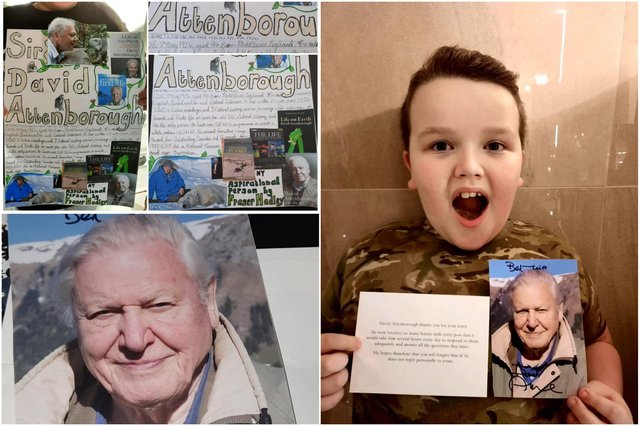 Fraser Hadley was delighted to receive a response from his hero David Attenborough