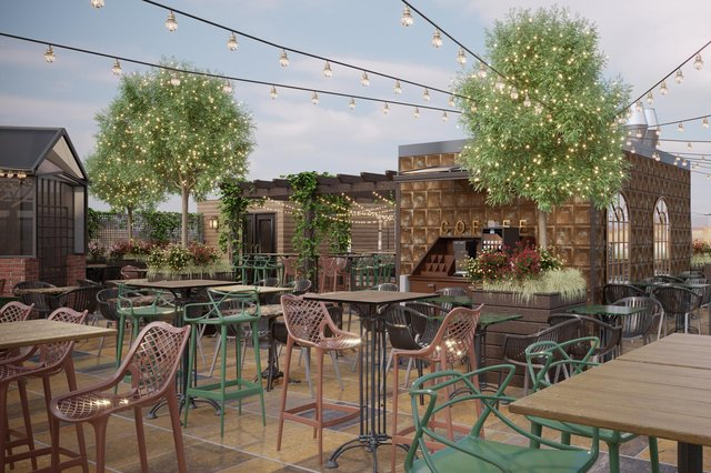How the roof terrace will look