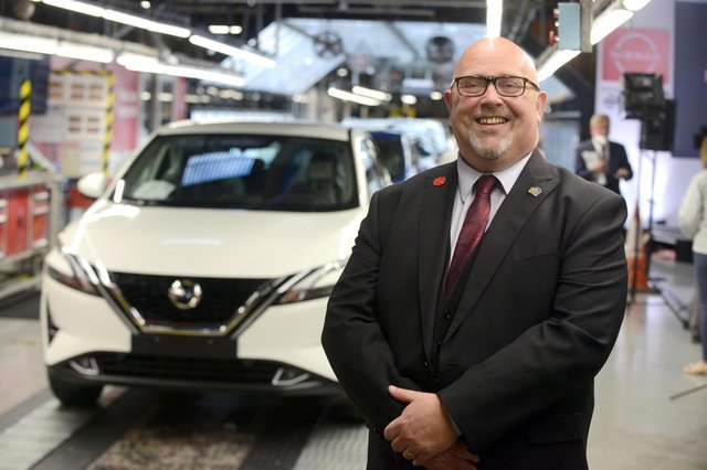 Sunderland City Council leader Graeme Miller at the Nissan press conference to unveil their new £1bn investment.