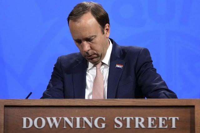 Matt Hancock has resigned as Health Secretary. Picture: Matt Dunham/PA Wire.