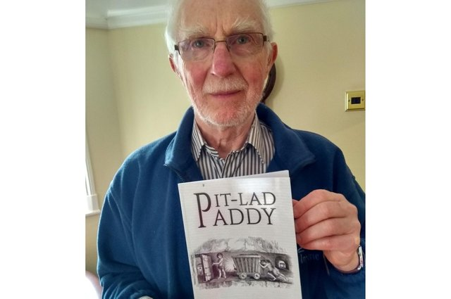 Peter Ford Mason with his latest book, 'Pit-Lad Paddy'.