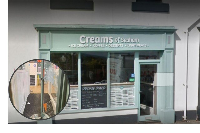 Creams of Seaham on North Terrace was broken into in the early hours of the morning.  Photo by Google Maps.