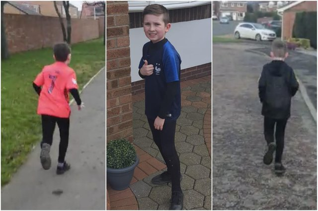 David Divens has been cataloguing his son Zac's daily runs as he sets out to complete a mile each day during March.