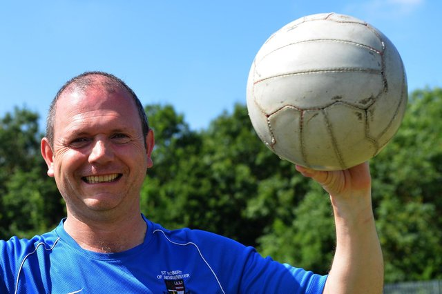 Jordan Pickford's former school PE teacher Alan Fisher at St Robert Of Newminster RC