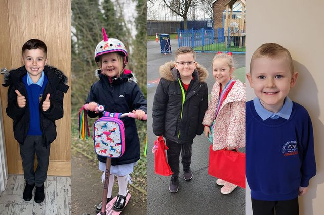 Proud parents have sent us their snaps of children returning to school.