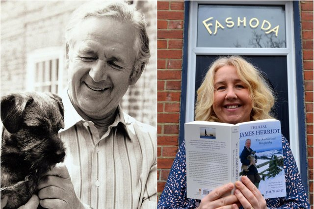 World famous author James Herriot was born in the house now owned by Julie Graham on October 3, 1916. JPI images.