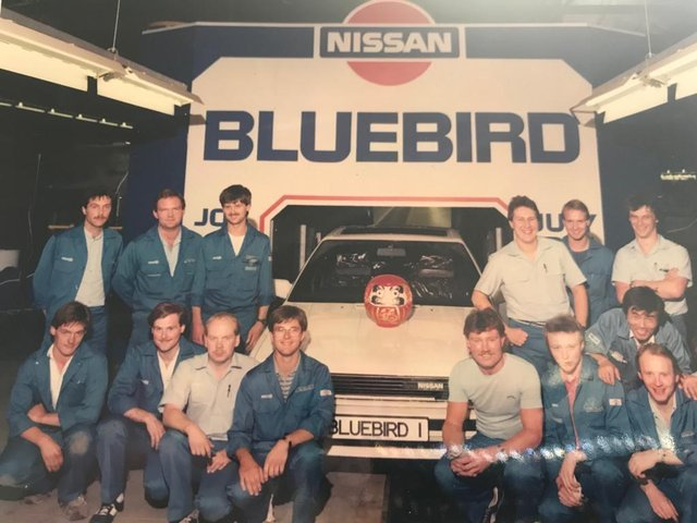 The first car to be built at the Sunderland plant was the Bluebird.
