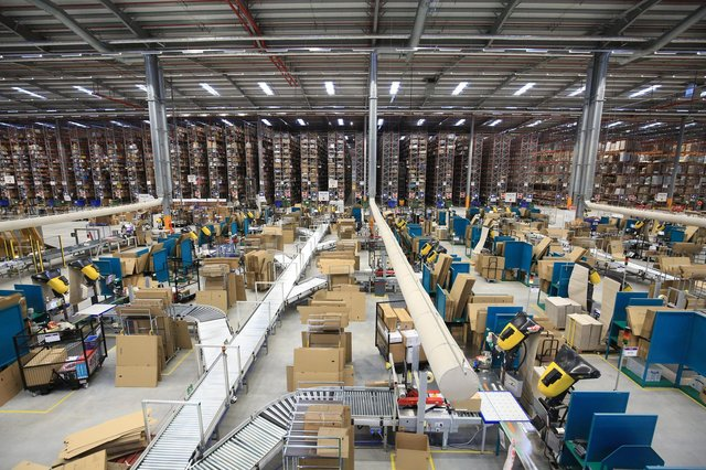 A tour of the Amazon base LBA 2 at Doncaster iPort as the Christmas rush begins to start. Picture: Chris Etchells