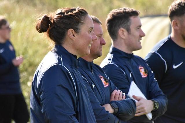 Sunderland Ladies manager Mel Reay - Photo courtesy of Chris Fryatt.