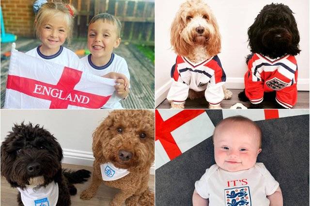 You've been sharing your England-themed pictures.