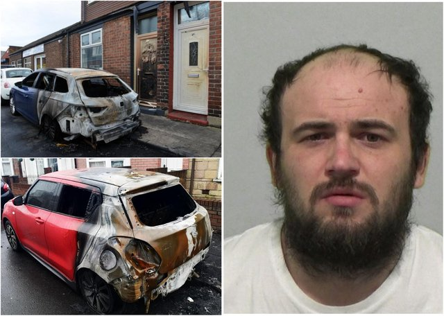 Kenneth Sherrington caused £57,000 in damage after setting fire to nine cars.