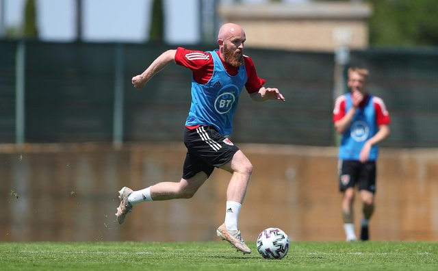 LAGOS, PORTUGAL - MAY 29: Jonny Williams of Wales during a Wales Training Session on May 28, 2021 in Lagos, Portugal. (Photo by Fran Santiago/Getty Images)