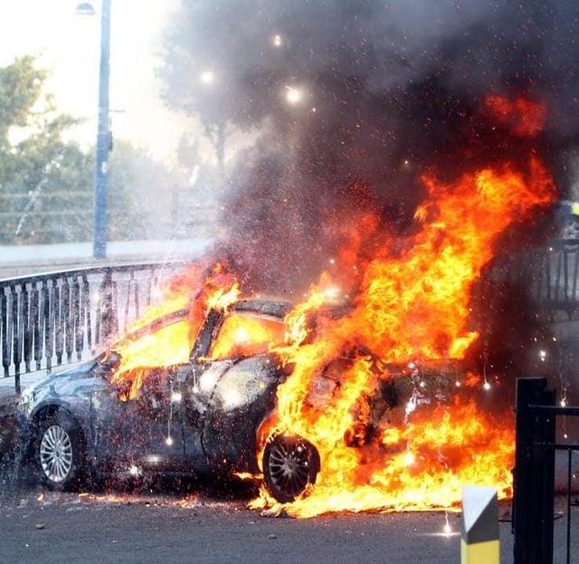 Car fire warning