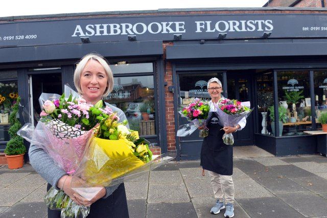 Ashbrooke Florists Michaela Barry and Melanie Pickersgill prepare for reopening the shop