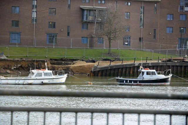 Sunderland City Council expects a further 25 metre section of footpath and piling to fall into the River Wear.