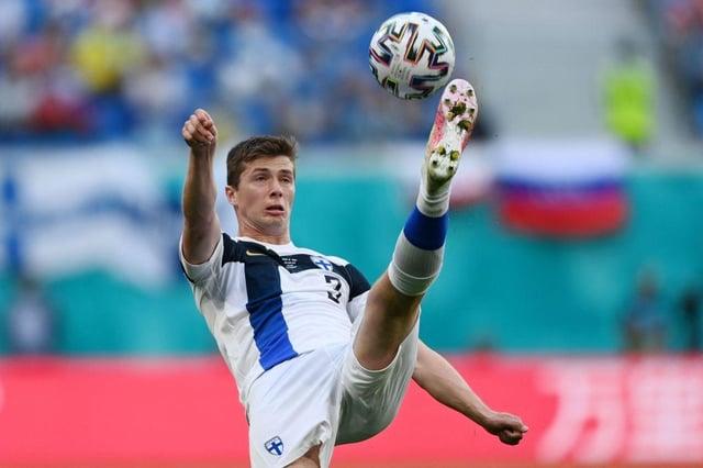 Finland's defender Daniel O'Shaughnessy.