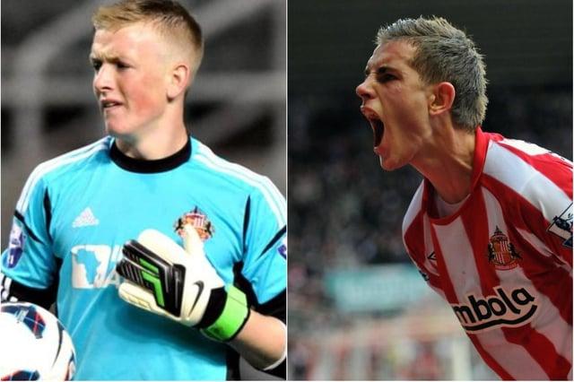 Jordan Pickford and Jordan Henderson during their Sunderland-playing days.
