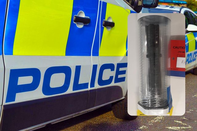 This Taser disguised as a torch was seized after police were called to a bar in Ryhope Village following concerns a man was acting suspiciously.