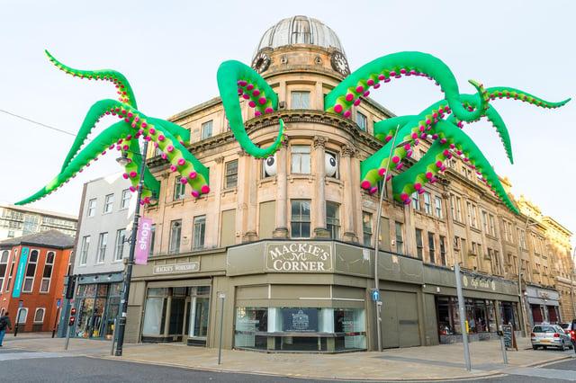 Last year's monster installation at Mackie's Corner