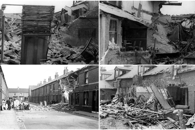 A reminder of the dark times the North East suffered during the air raids of 1940.