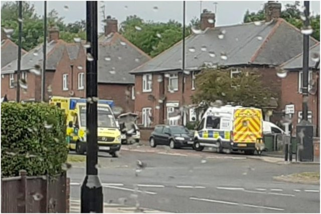 Emergency services were called to a home on St Luke's Road in Sunderland following a 'medical incident'. Image by Paul Hodgson.