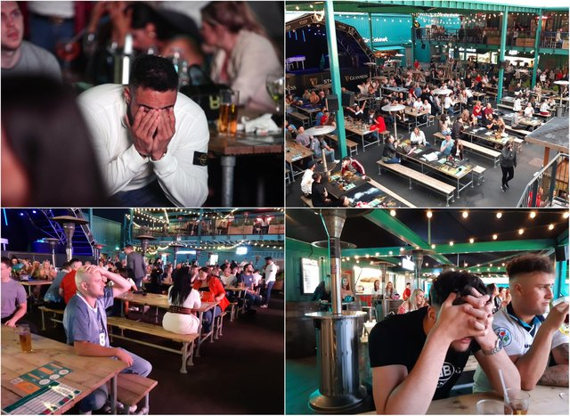 Devastation and heartbreak at Stack in Sunderland as fans watch the Euro 2020 final