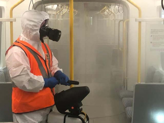 Metro cleaning in action