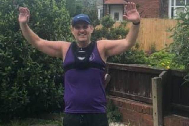 Grant Lawson, 48, is set to run his 12th half marathon in 12 weeks when he runs the Sunderland Half Marathon on behalf of North East Dementia Care.