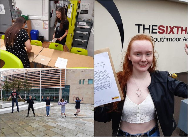 A level results day in Sunderland.