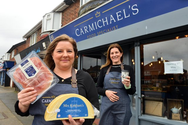 Carmichael's Food Specialist owner Donna Carmichael (L) with manager Julie Gough on Dovedale Road, Fulwell.