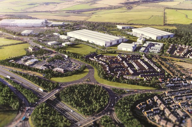 How the Integra 61 site, by the side of the A1(M) in Bowburn will look once complete.
