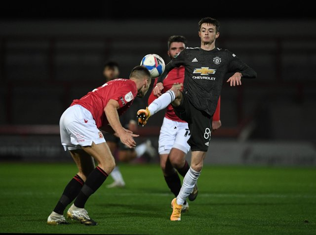 Joe Hugill of Manchester United.