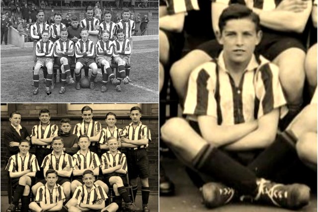 The Sunderland schoolboys who were national champions in 1933.
